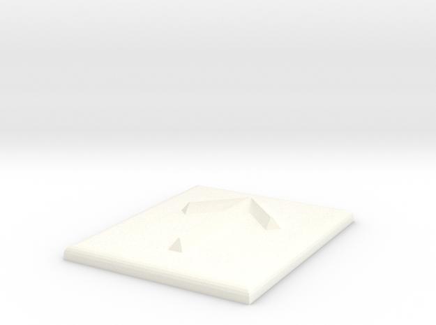Pfeil nach oben in White Processed Versatile Plastic