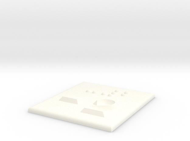 -2 (Minus zwei) in White Processed Versatile Plastic
