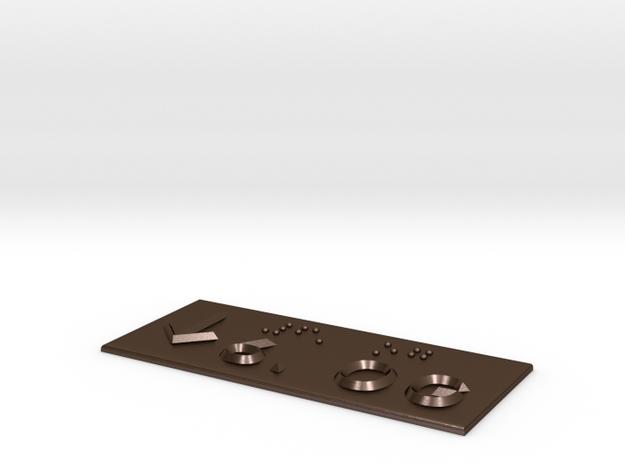 6.OG mit Pfeil nach unten in Polished Bronze Steel