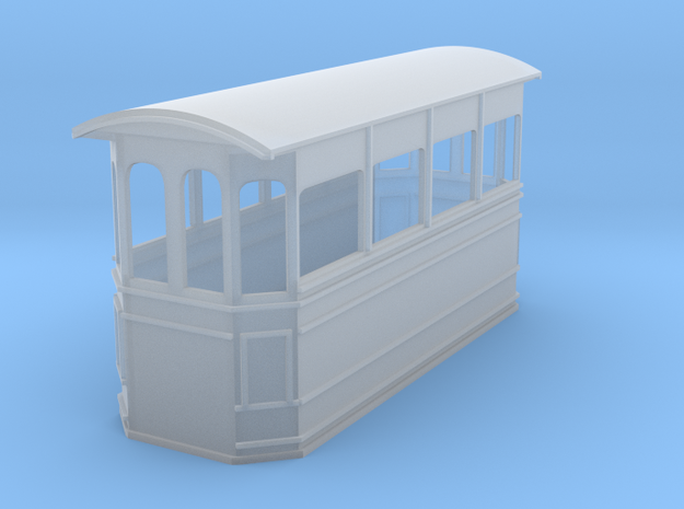 Kitson style steam tram 009 in Smooth Fine Detail Plastic