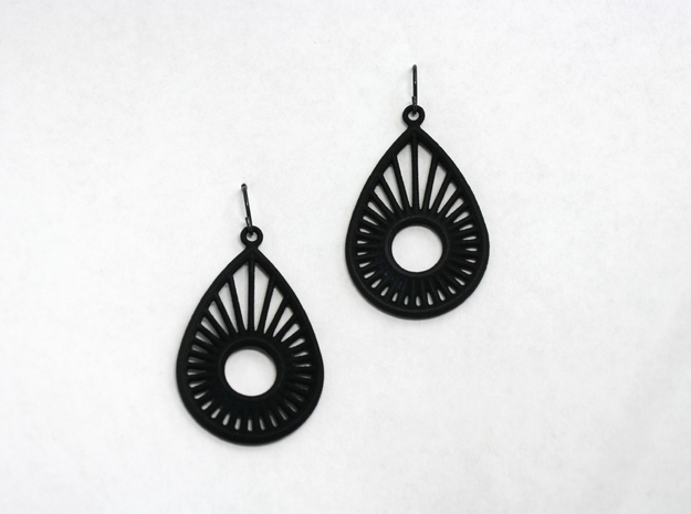 Sunrise Pear - Earrings in Black Strong & Flexible