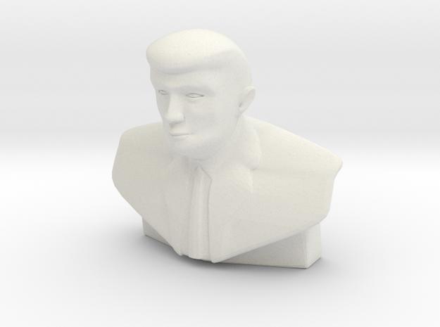 Donald Trump Statue - Tiny in White Natural Versatile Plastic