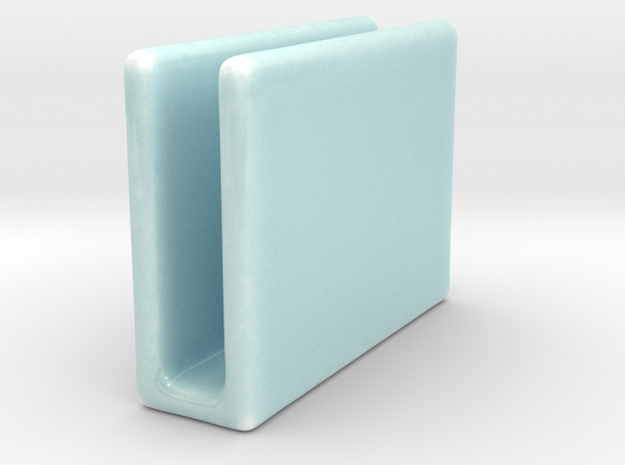 Celadon Selfie Napkin Holder in Gloss Celadon Green Porcelain