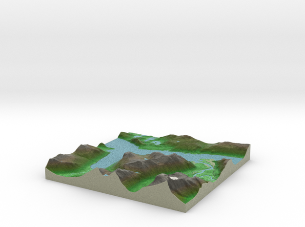 Terrafab generated model Fri Jul 08 2016 15:21:24  in Full Color Sandstone