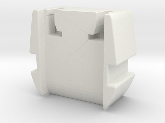 GHK PDW Hybrid Recoil Pad Bottom in White Natural Versatile Plastic