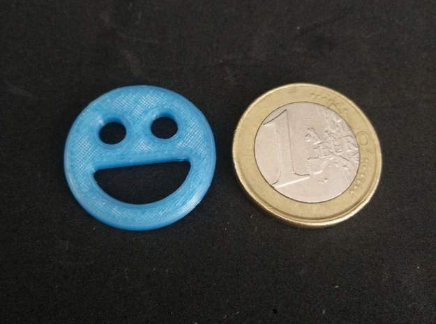 Shopping Cart Chip Smiley 2 in Blue Processed Versatile Plastic