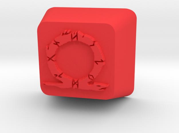 Dragon Omega Cherry MX Keycap in Red Processed Versatile Plastic