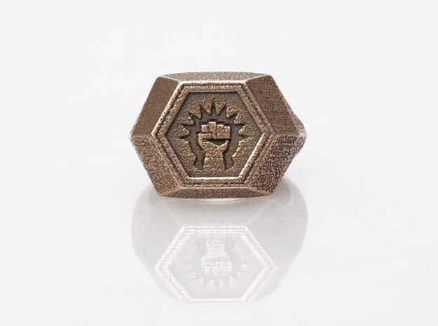 Magic: The Gathering    Boros Ring(US Size 10) in Polished Bronzed Silver Steel