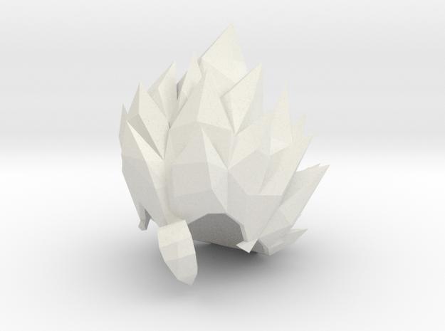 Custom Gogeta Inspired MINIMATE in White Natural Versatile Plastic