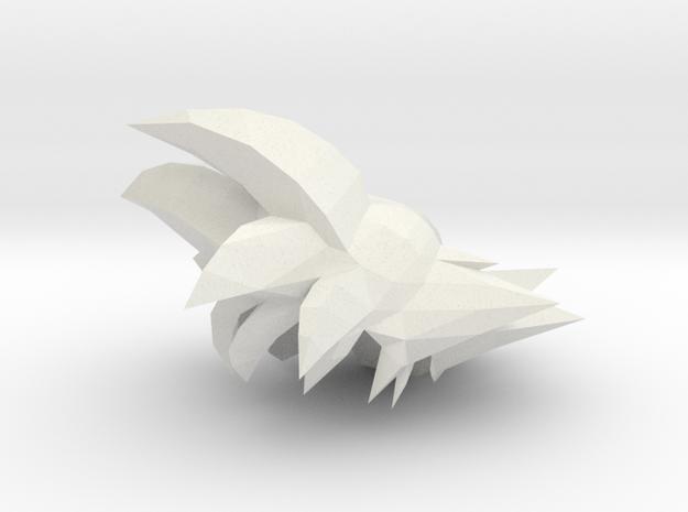 Custom Goku Inspired MINIMATE in White Natural Versatile Plastic