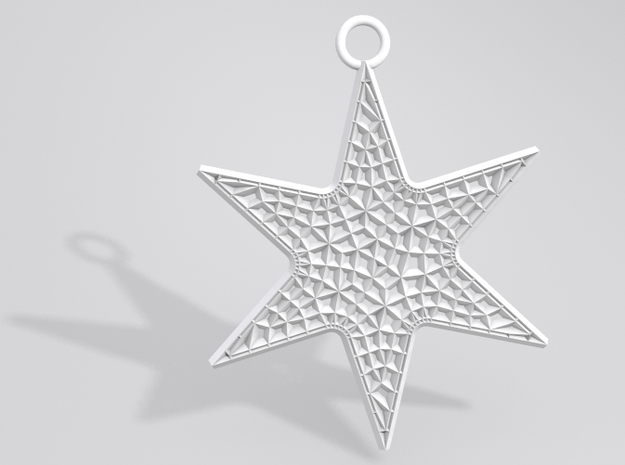Star Ornament Medium 3d printed Sample render