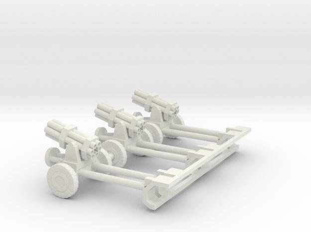 1/100 Nebelwerfer german rocket guns  in White Natural Versatile Plastic