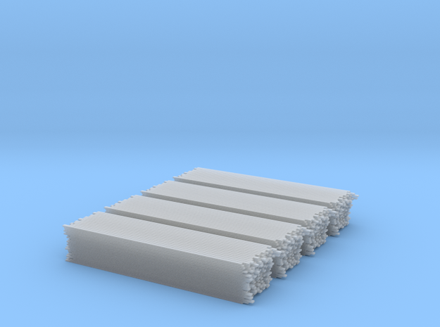 2 inch x 4 inch x 16 foot Lumber Load, N Scale in Smooth Fine Detail Plastic