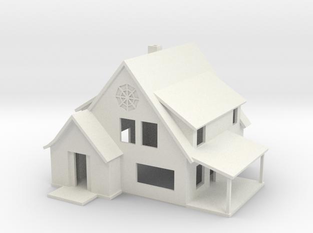 Sears Cedars House - Zscale in White Natural Versatile Plastic