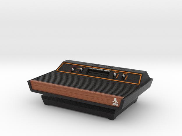 1:6 Atari 2600 (Wood Grain) in Full Color Sandstone