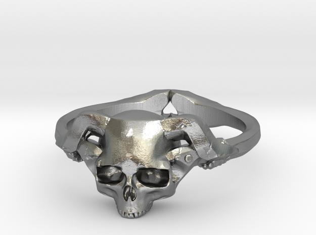 Skolls in Raw Silver