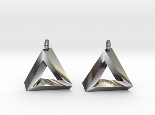 Penrose Triangle - Earrings (17mm)