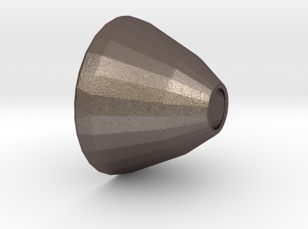 Short Light cone in Polished Bronzed Silver Steel