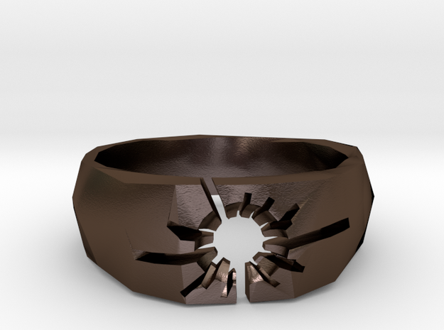Neotokyo ring: size 8 (US) Q (UK) 3d printed