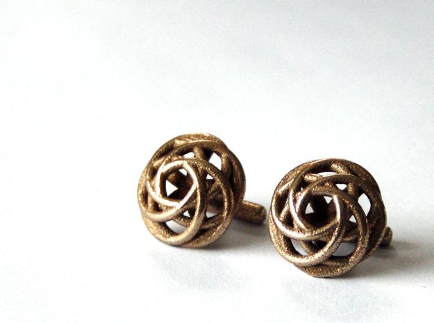 Merged Rings Cufflinks 3d printed Cufflinks