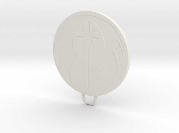 Force user Keychain in White Natural Versatile Plastic