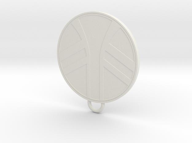 UKCM Keychain in White Natural Versatile Plastic