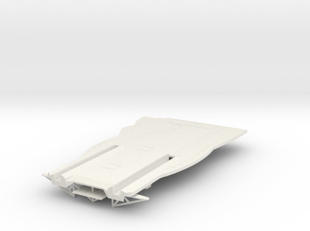 Graf Zeppelin 1:100 Flugdecküberhang Bug in White Natural Versatile Plastic