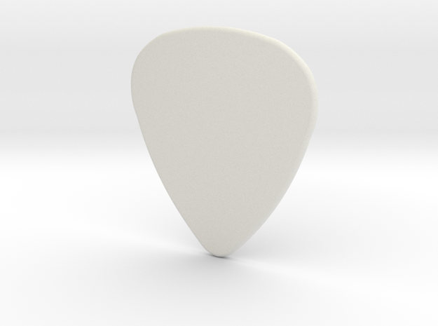 Blank Pick 1.5mm in White Natural Versatile Plastic