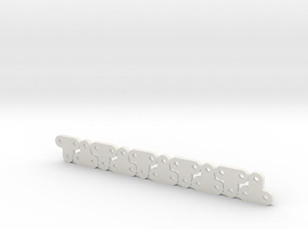Lüfterhalter 3x kurz 4mm N10 V1 in White Natural Versatile Plastic