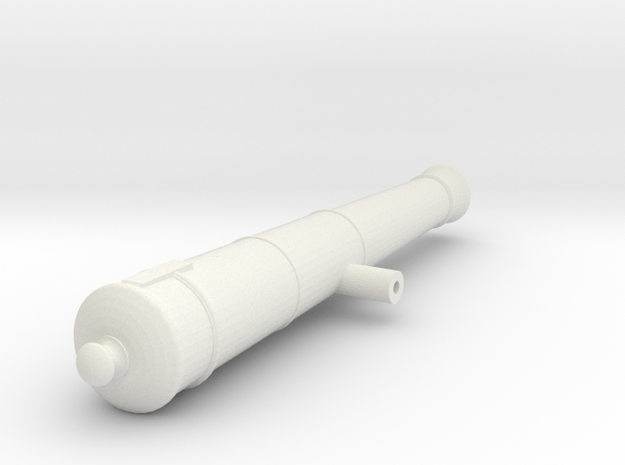 1:24 scale12lb Barrel in White Natural Versatile Plastic