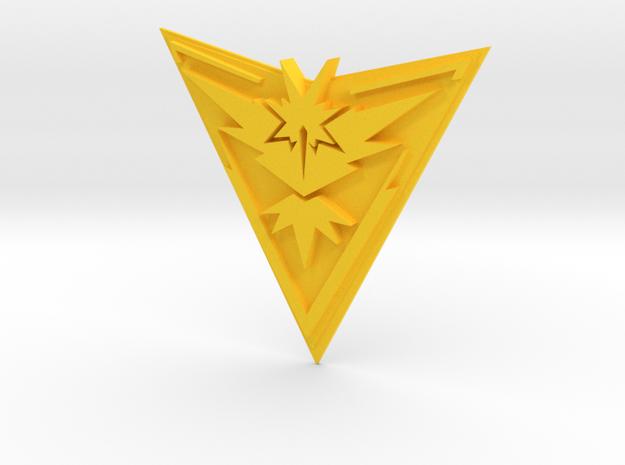Pokemon Go Team Instinct Badge in Yellow Processed Versatile Plastic