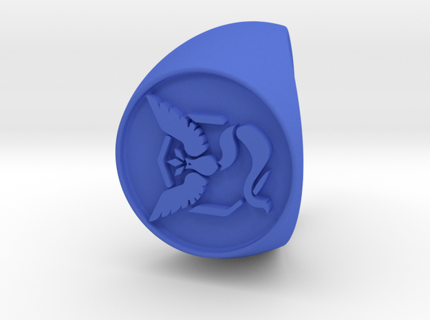 Team Mystic Signet US 11 in Blue Processed Versatile Plastic