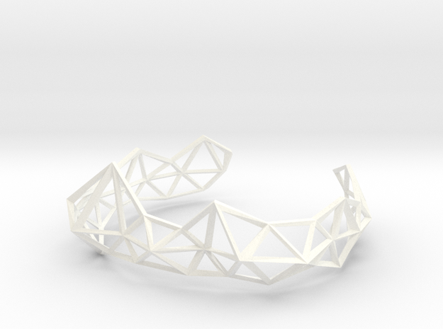 Wireframe Tiara in White Processed Versatile Plastic