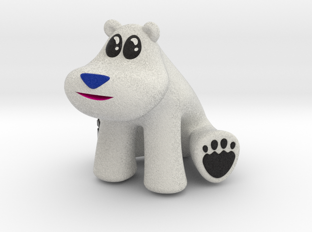 Polar Bear from Crash Bandicoot (without base) in Full Color Sandstone