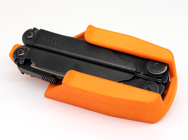 Holster for Leatherman Wave, r3 in Orange Strong & Flexible Polished