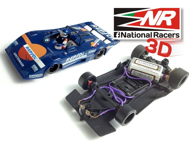 3D chassis -  Power Slot Lola T-298 (AW-SW) in Black Natural Versatile Plastic