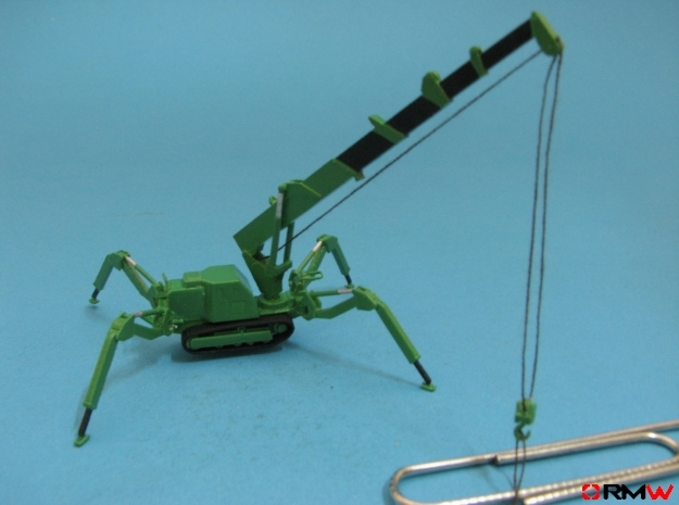 HO/1:87 Mini Crawler Crane Set C kit in Frosted Ultra Detail