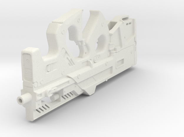 1:6th Scale Compact Weapon System in White Natural Versatile Plastic