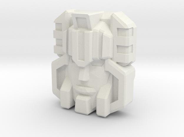 Monstructor Face, G1 (Titans Return) in White Natural Versatile Plastic