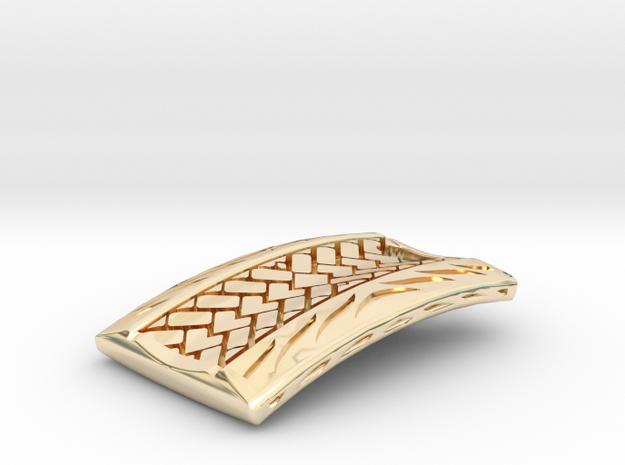 Herringbone Pendant in 14k Gold Plated