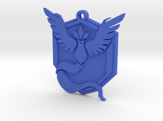 Pokemon Go - Team Mystic - Pendant in Blue Strong & Flexible Polished