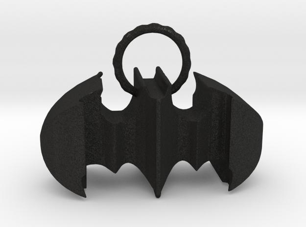 Batman keychain (or necklace ) in Black Acrylic