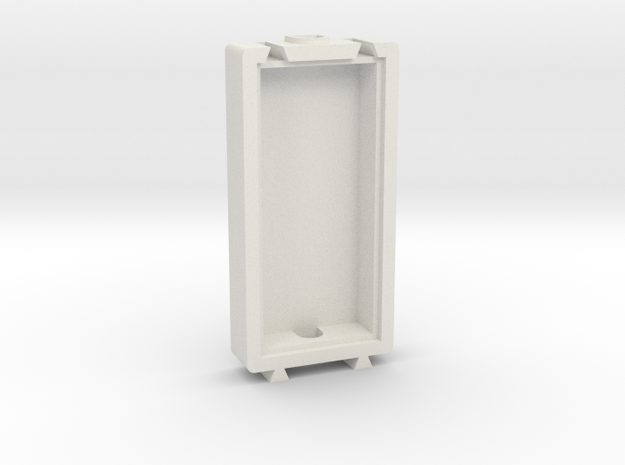 Basic Long Modular Piece in White Natural Versatile Plastic