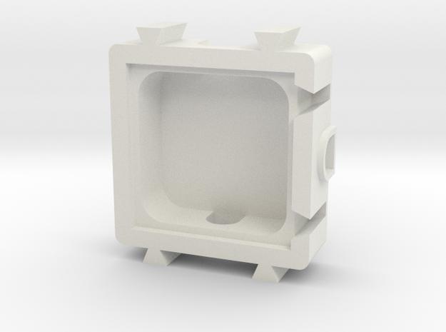 T Module in White Natural Versatile Plastic