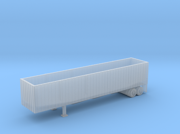 N Scale Woodchip/Scrap Trailer in Smooth Fine Detail Plastic
