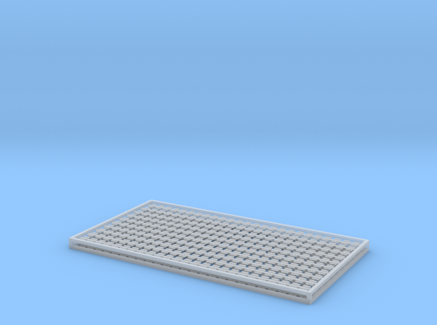 7mm Sleeper Plates C125 Rail X 500 in Smooth Fine Detail Plastic