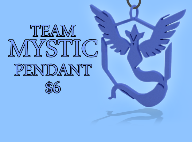 Pokemon GO: Team Mystic Pendant in Blue Processed Versatile Plastic