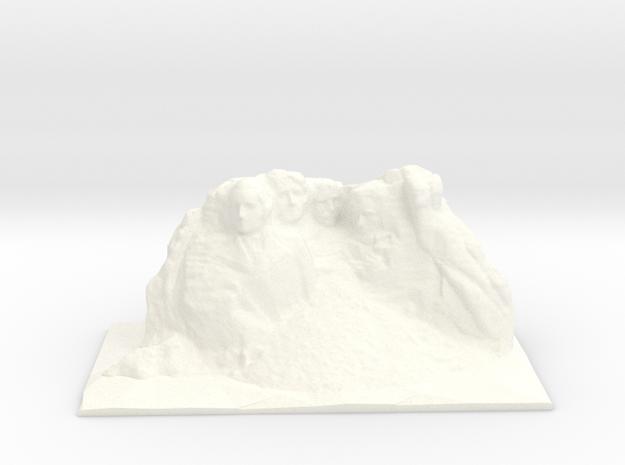 Mount Rushmore in White Processed Versatile Plastic: Small
