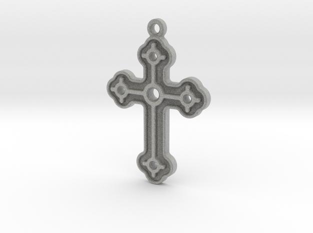 Greek Cross in Metallic Plastic