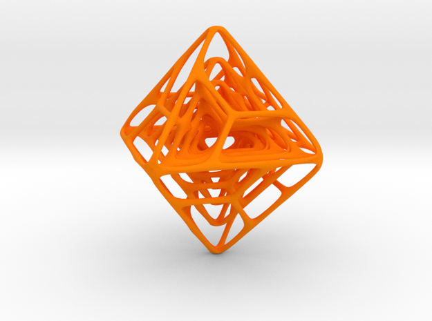 Spider Octaed in Orange Strong & Flexible Polished